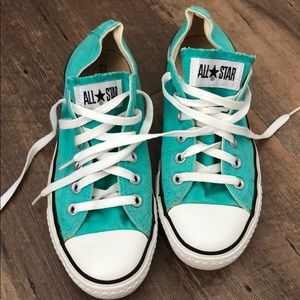 Teal Converse - size 8